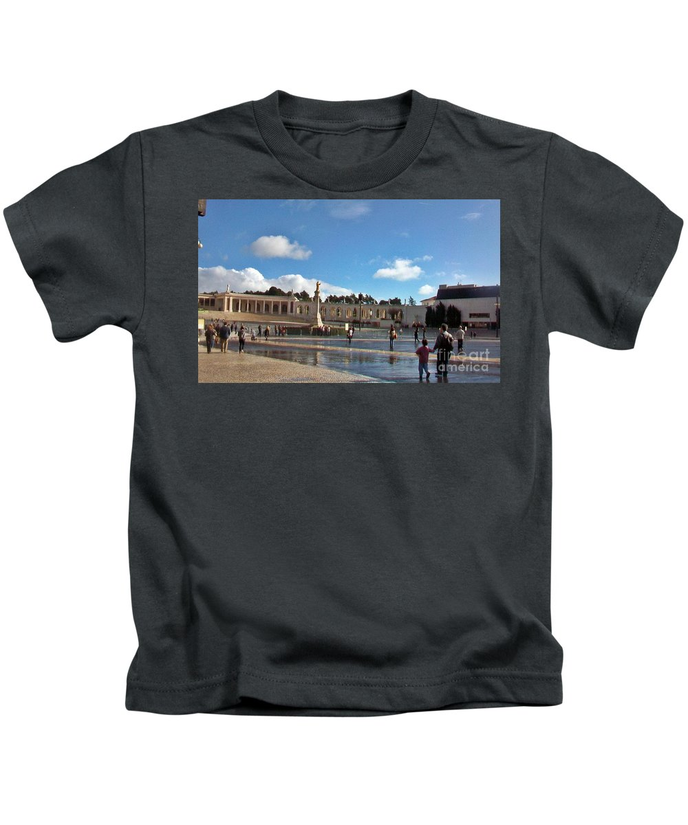 Fatima Kids T-Shirt featuring the photograph Fatima-5 by Rezzan Erguvan-Onal