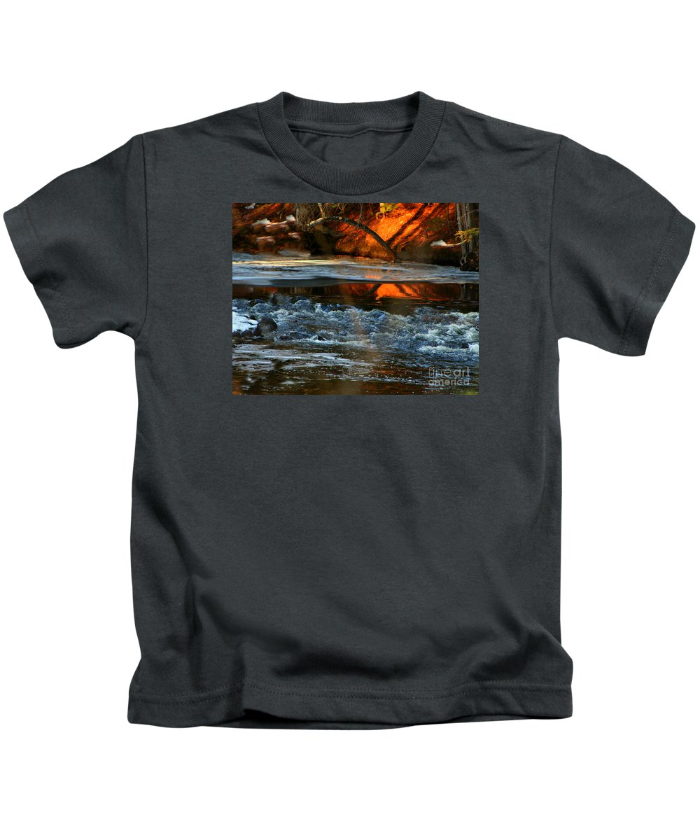 New England Kids T-Shirt featuring the photograph February Thaw In New England by Barbara S Nickerson