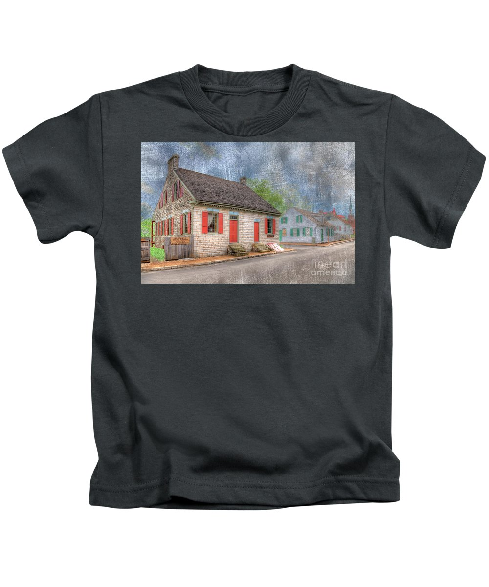 Hdr Kids T-Shirt featuring the photograph Felix Valle House by Larry Braun