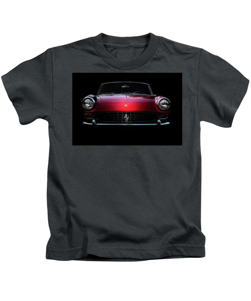 Ferrari Kids T-Shirt featuring the photograph Ferrari 275 Gts by Jon Reiswig