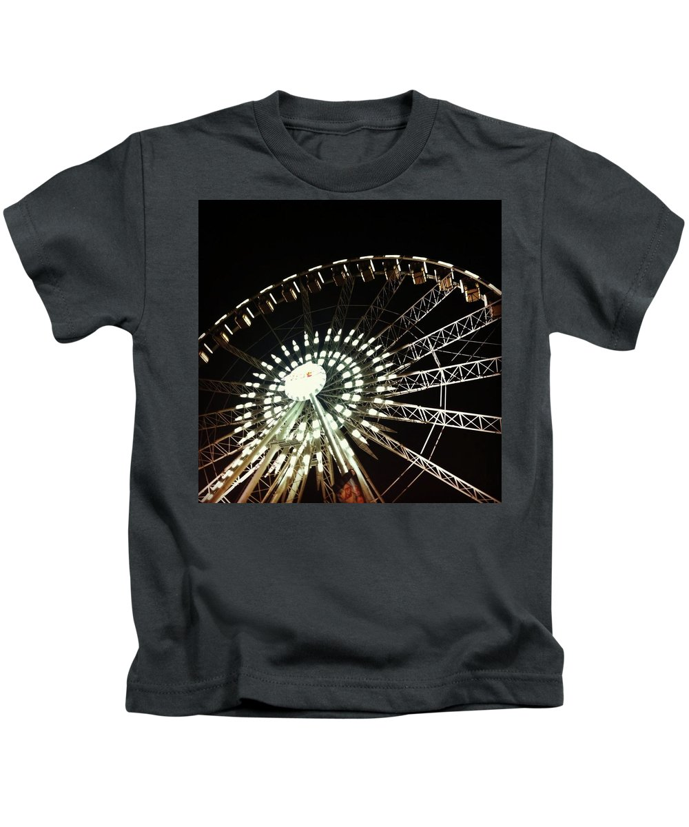 Ferris Wheel Kids T-Shirt featuring the photograph Ferris Wheel by Claire Kenney