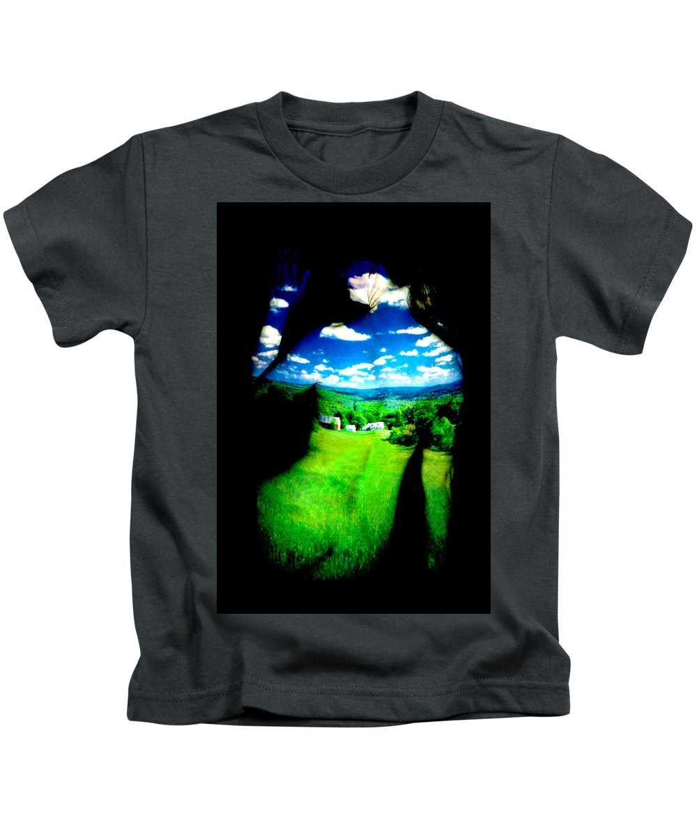 Field Kids T-Shirt featuring the photograph Field Girl by Greg Fortier