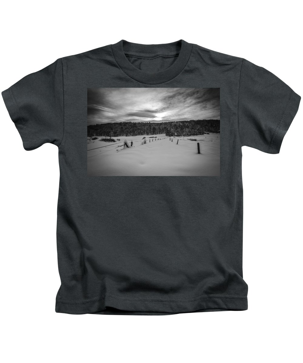 Snow Kids T-Shirt featuring the photograph Field by Joze Flajs
