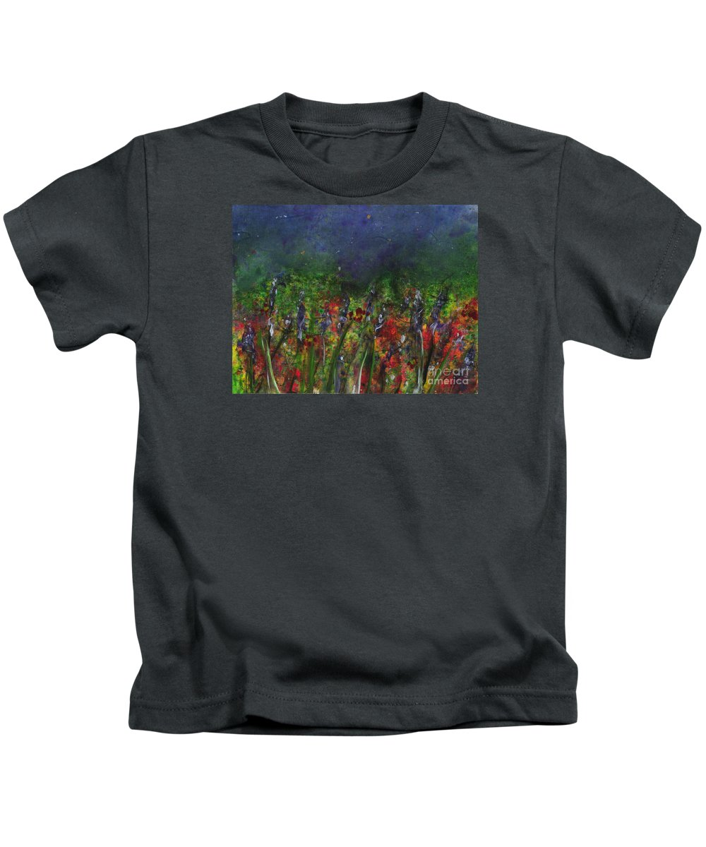 Flowers Kids T-Shirt featuring the painting Field Of Flowers by Lynn Quinn