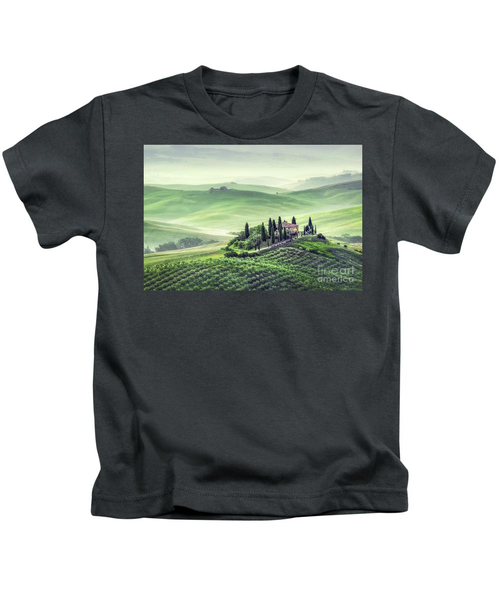 Kremsdorf Kids T-Shirt featuring the photograph Fields Of Eternal Harmony by Evelina Kremsdorf
