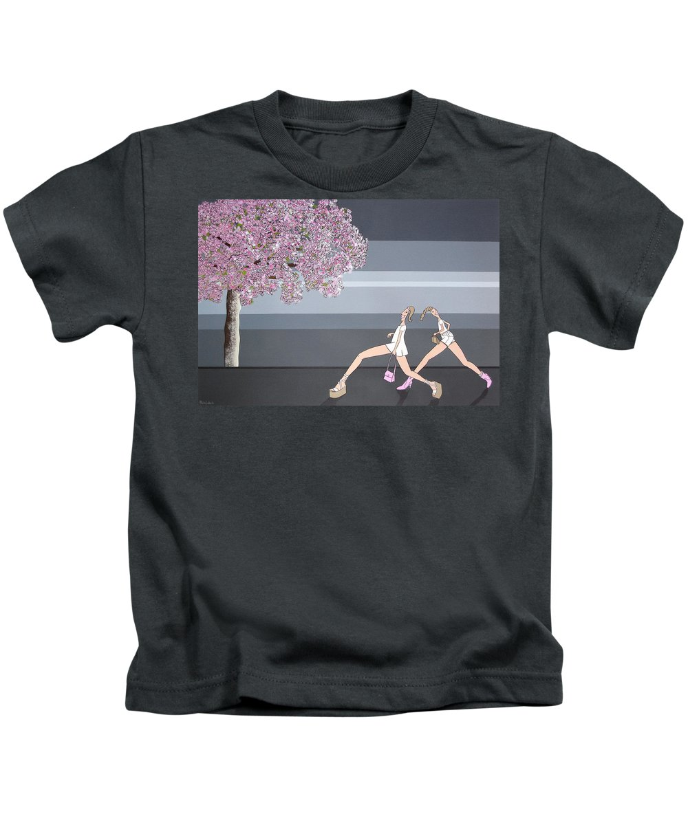 Girls Kids T-Shirt featuring the painting Fifteen by Patricia Van Lubeck