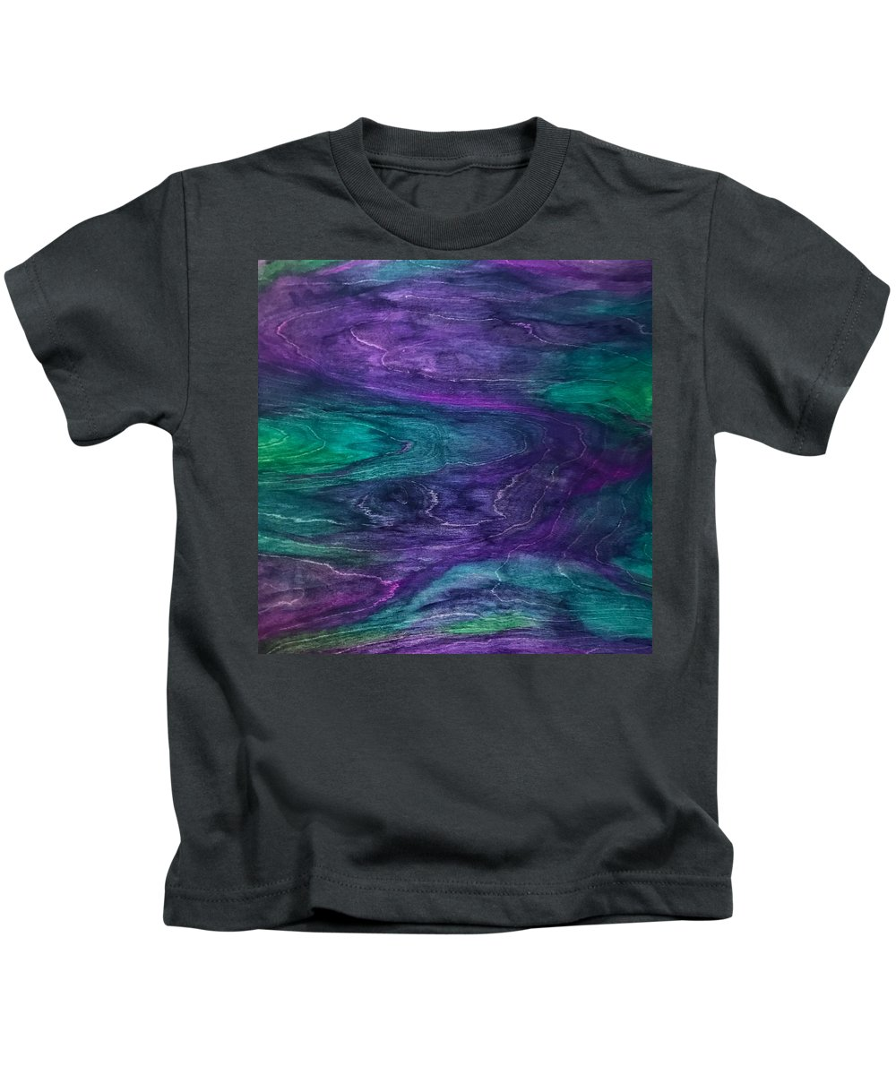 Handstained Kids T-Shirt featuring the painting F.i.n.e. by Susi Schuele