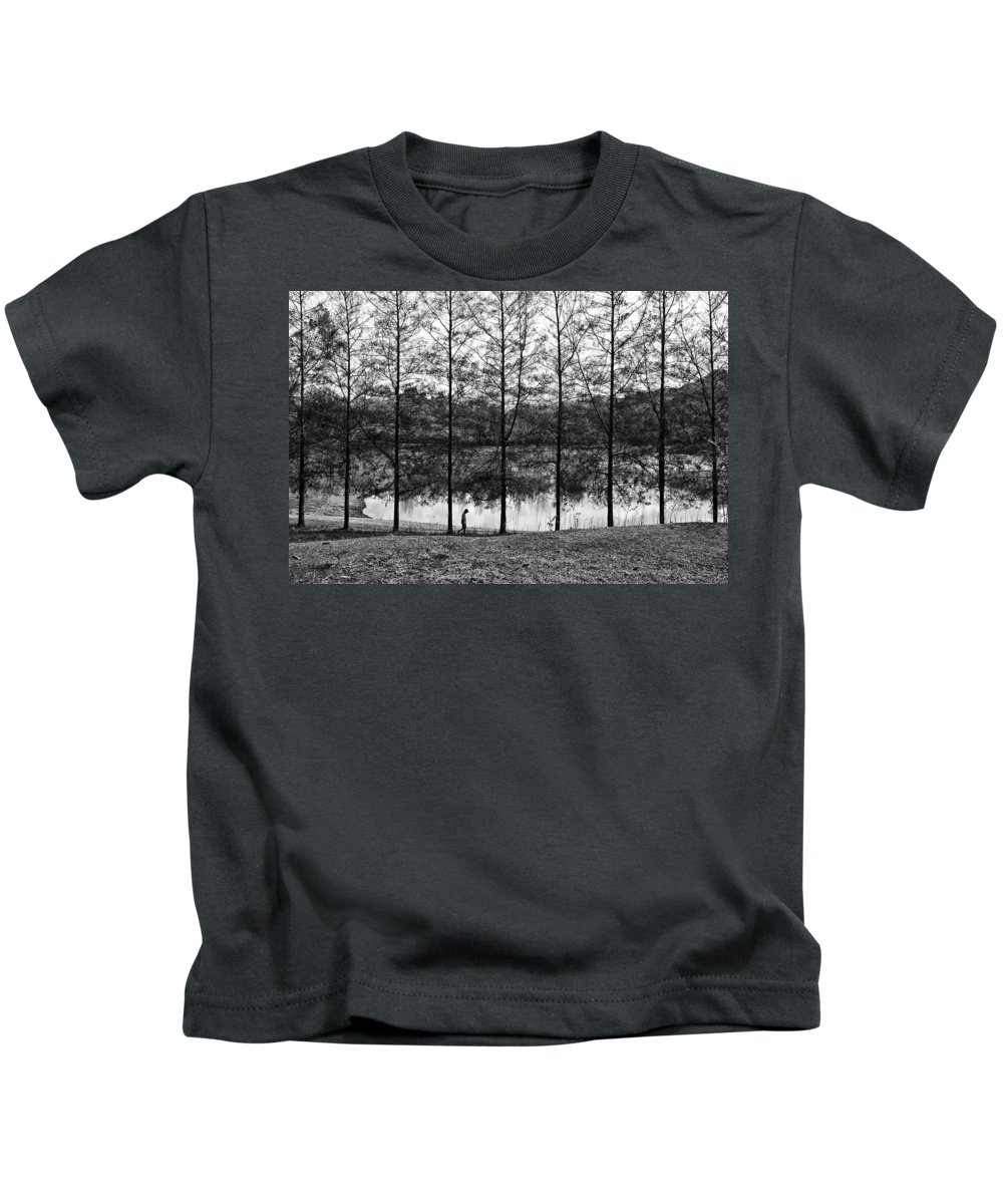 Landscape Kids T-Shirt featuring the photograph Fine Trees by George Cabig