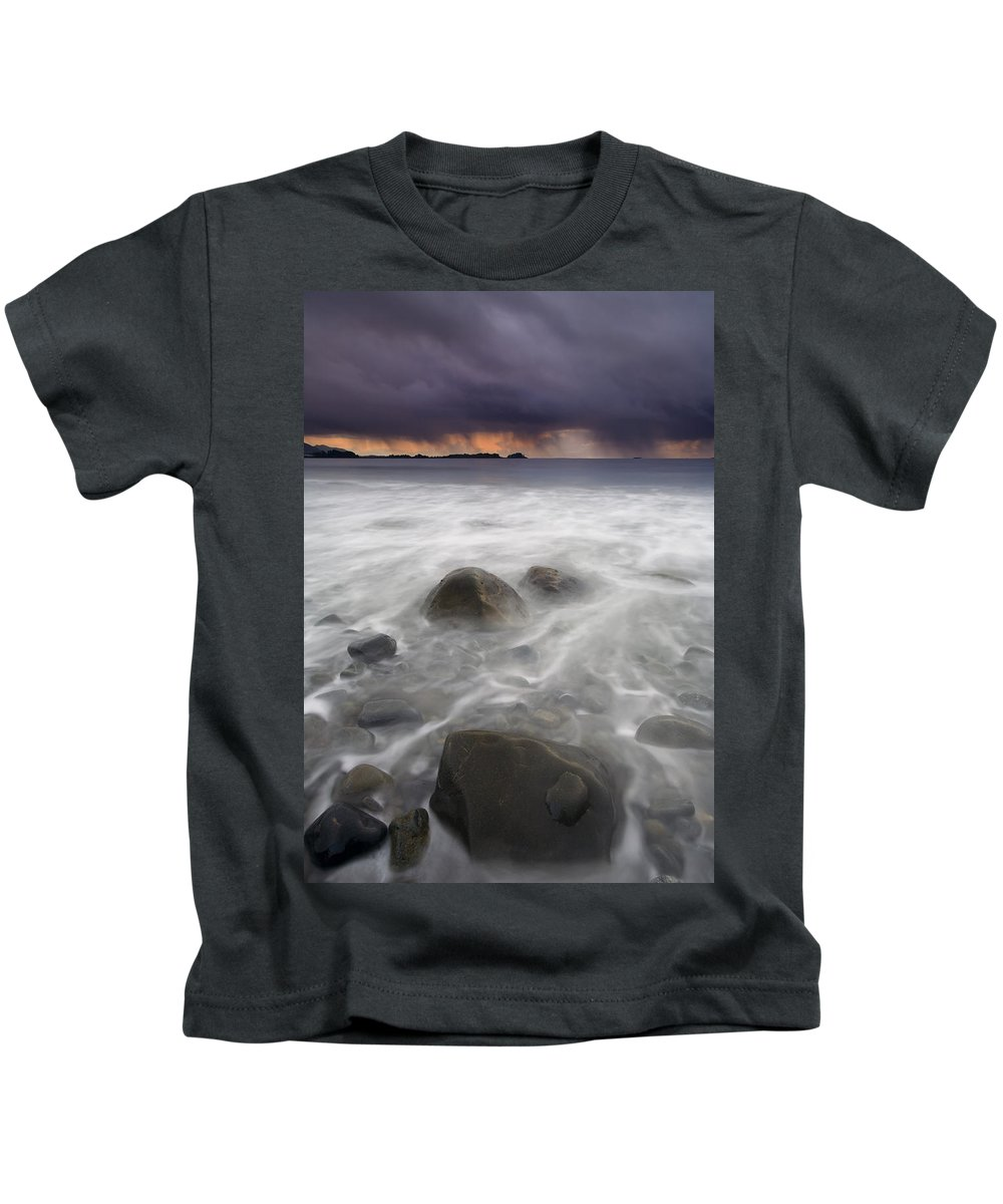 Storm Kids T-Shirt featuring the photograph Fingers Of The Storm by Mike Dawson