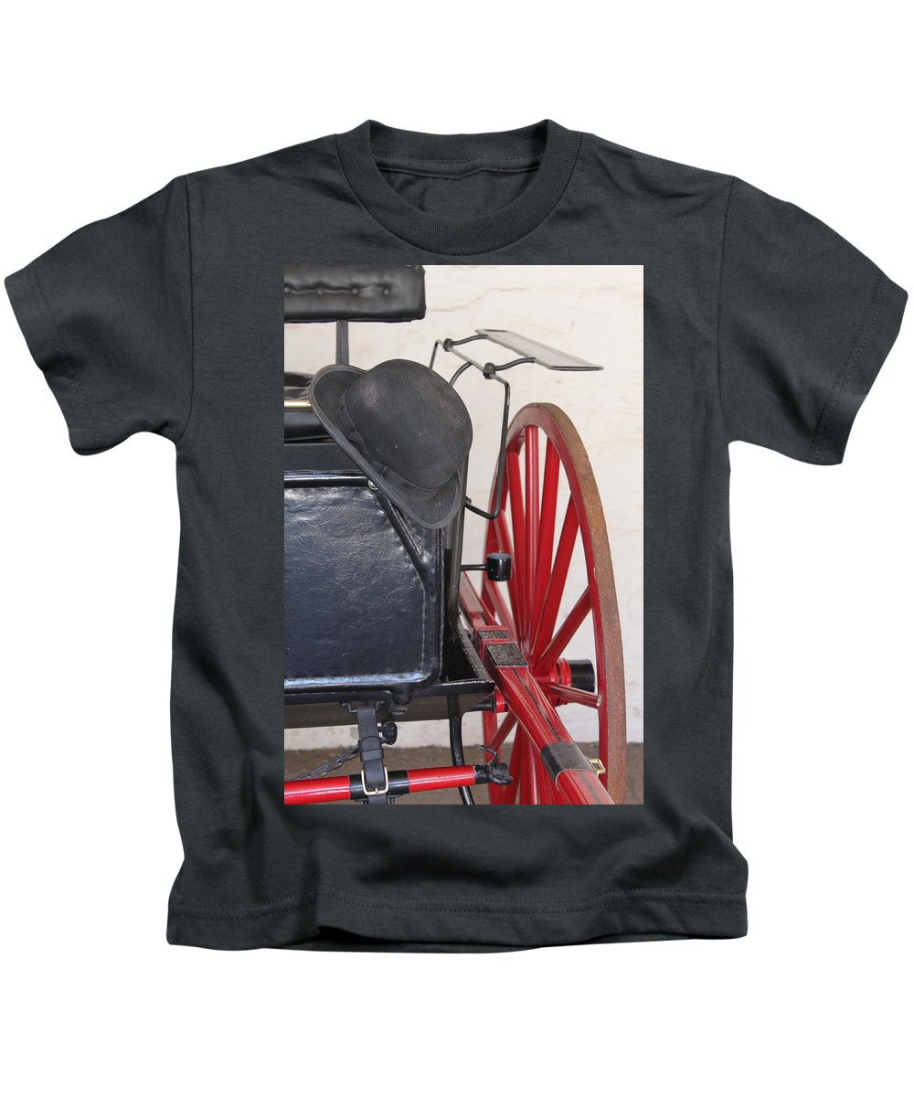 Fire Kids T-Shirt featuring the photograph Fire Wagon by Lauri Novak