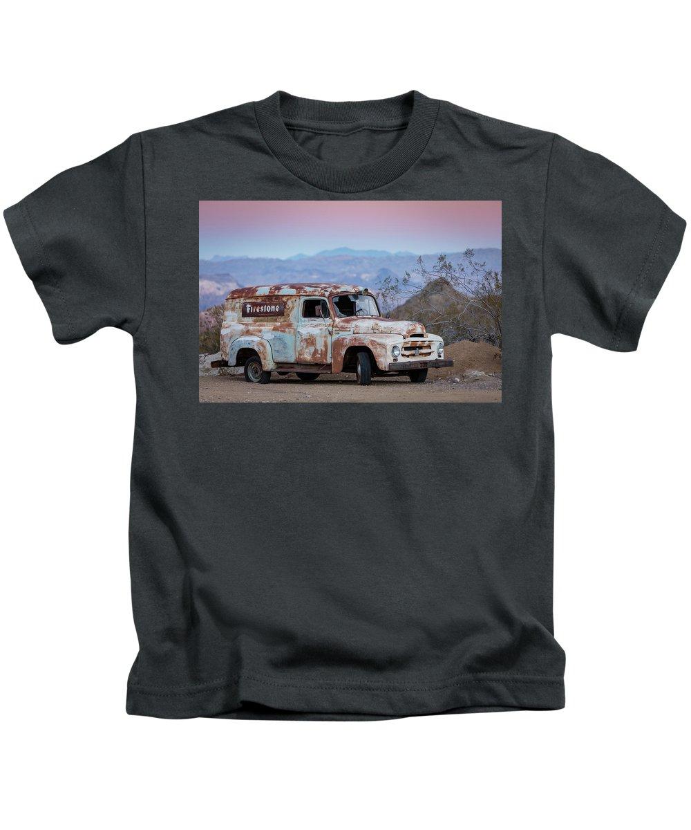 Las Vegas Kids T-Shirt featuring the photograph Firestone Truck by Valeriy Shvetsov