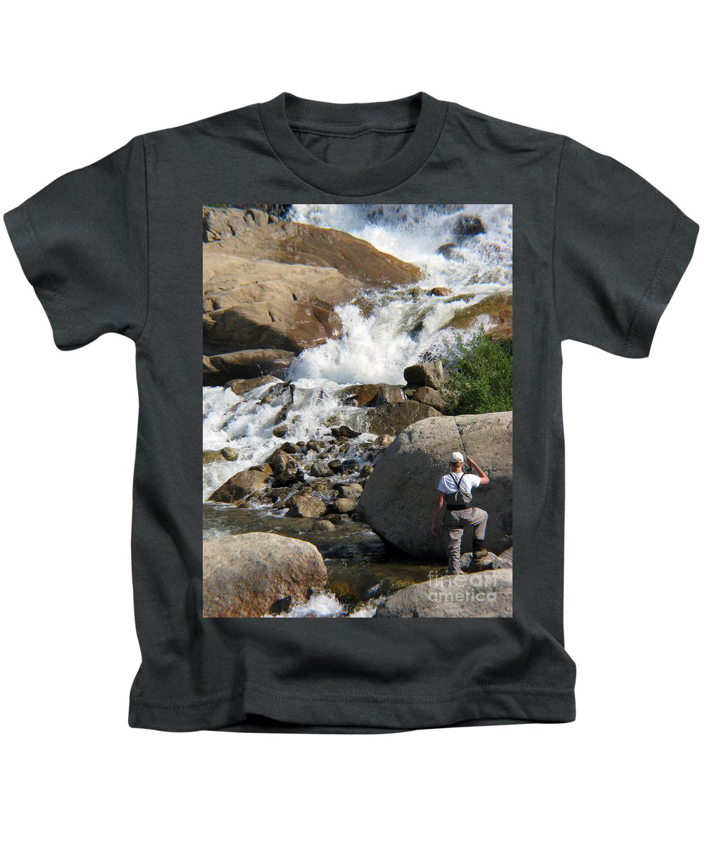 Fishing Kids T-Shirt featuring the photograph Fishing Anyone by Amanda Barcon