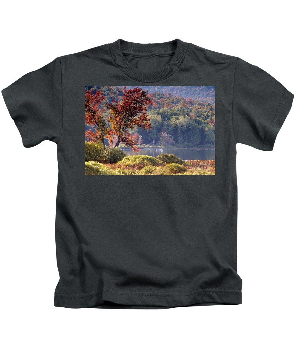 Adirondack Mountains Kids T-Shirt featuring the photograph Fishing The Adirondacks by David Lee Thompson