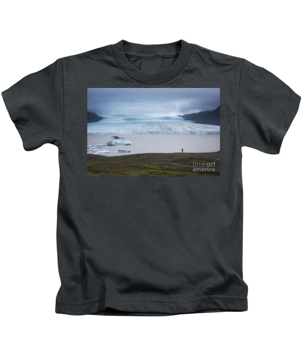 Jokulsarlon Kids T-Shirt featuring the photograph Fjallsarlon by Michael Ver Sprill