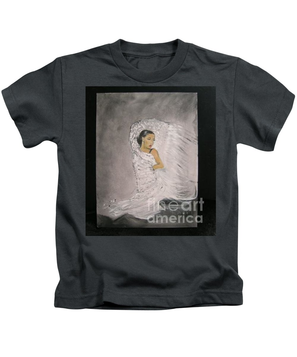 Spain Kids T-Shirt featuring the painting Flamenco by Lizzy Forrester
