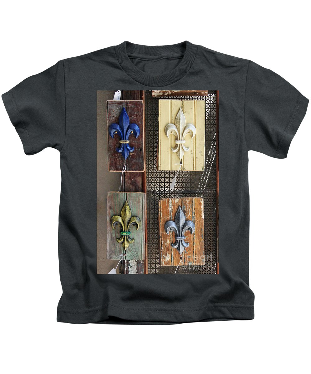 Fleur-de-lis Kids T-Shirt featuring the photograph Fleurs-de-lis by Todd Blanchard