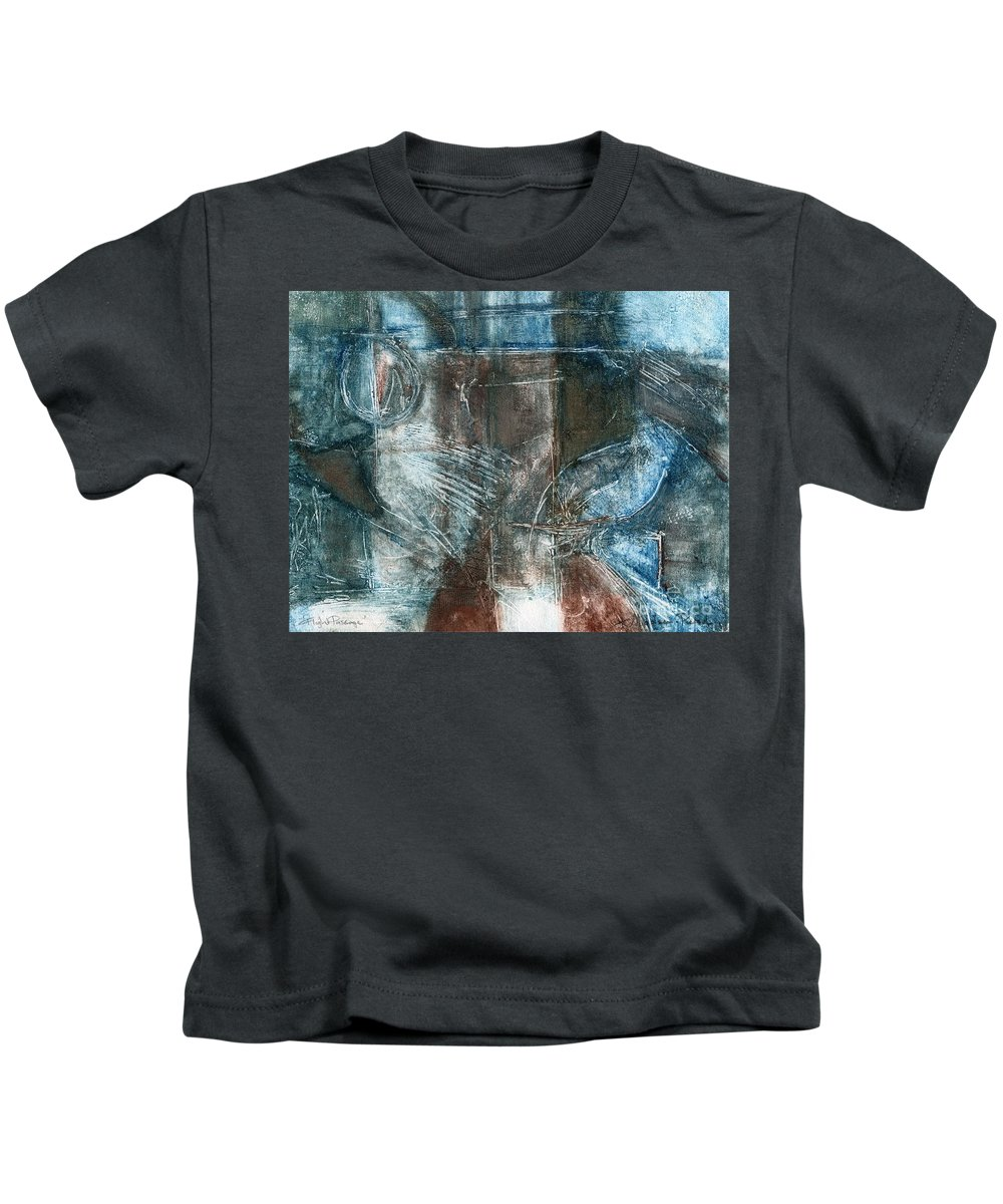 Flight Kids T-Shirt featuring the drawing Flight Passage by Kerryn Madsen- Pietsch