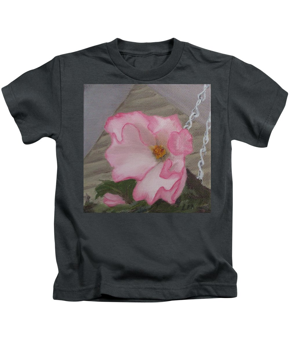 Flower Kids T-Shirt featuring the painting Flirty Begonia by Lea Novak