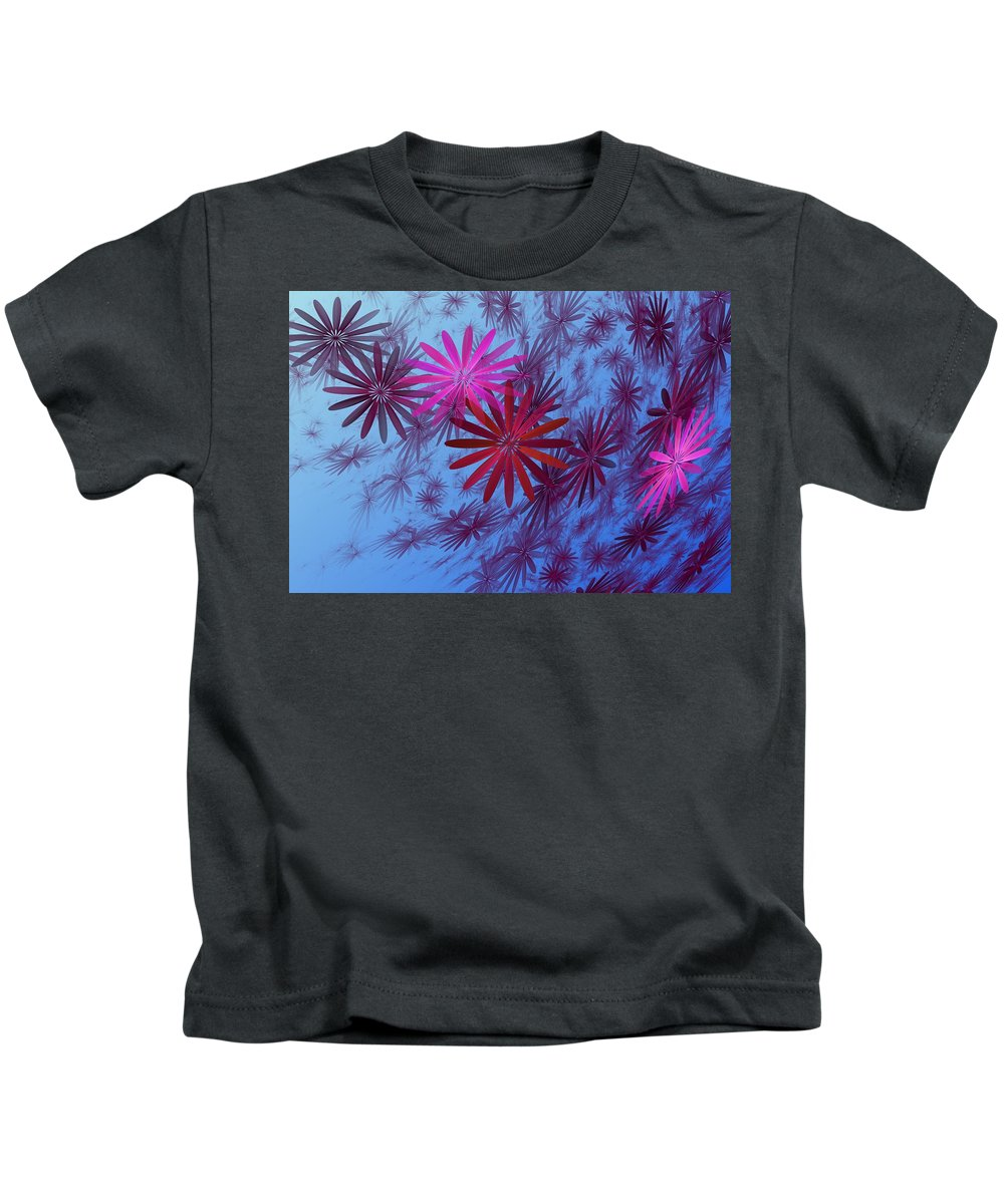 Fantasy Kids T-Shirt featuring the digital art Floating Floral -003 by David Lane