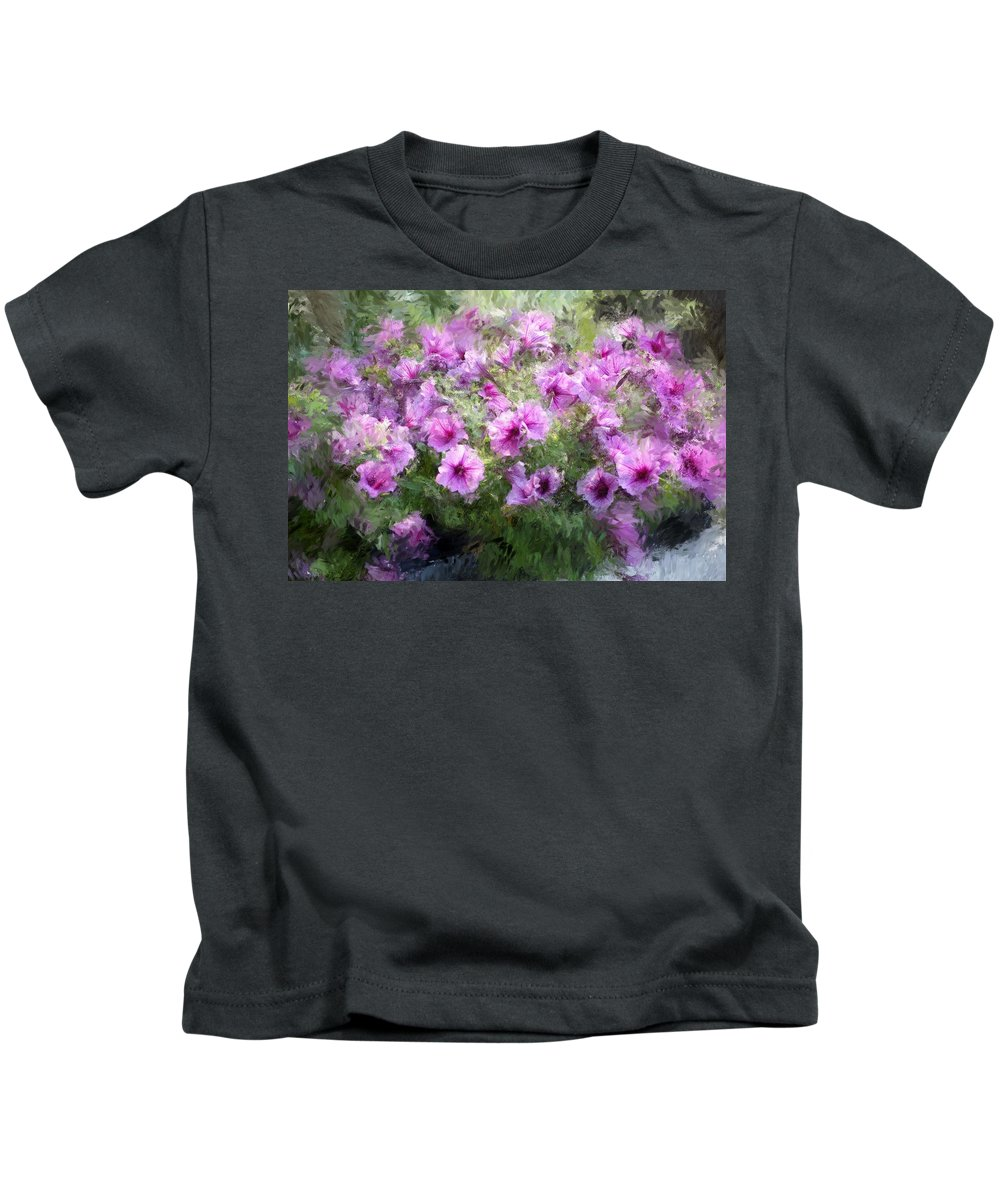 Digital Photography Kids T-Shirt featuring the photograph Floral Study 053010 by David Lane
