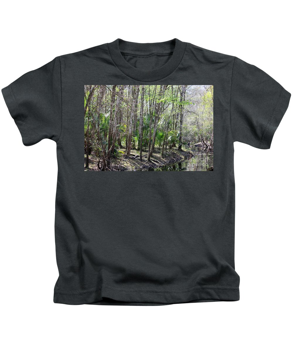 Florida Landscape Kids T-Shirt featuring the photograph Florida Riverbank by Carol Groenen