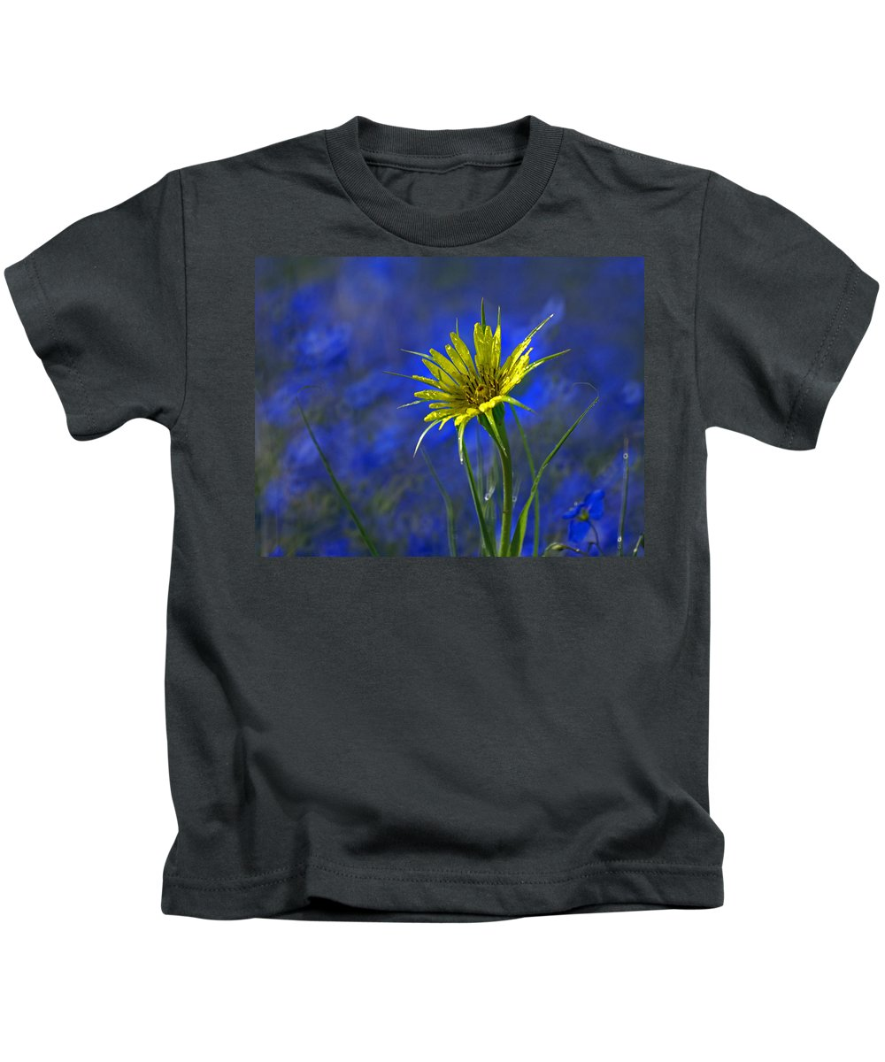 Flower Kids T-Shirt featuring the photograph Flower And Flax by Heather Coen