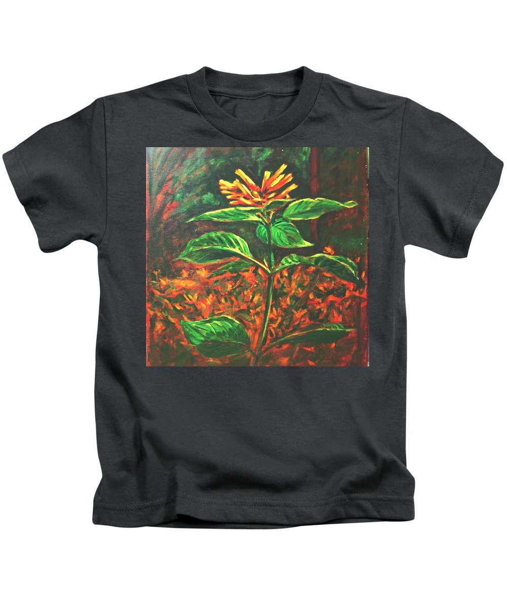 Flower Kids T-Shirt featuring the painting Flower Branch by Usha Shantharam