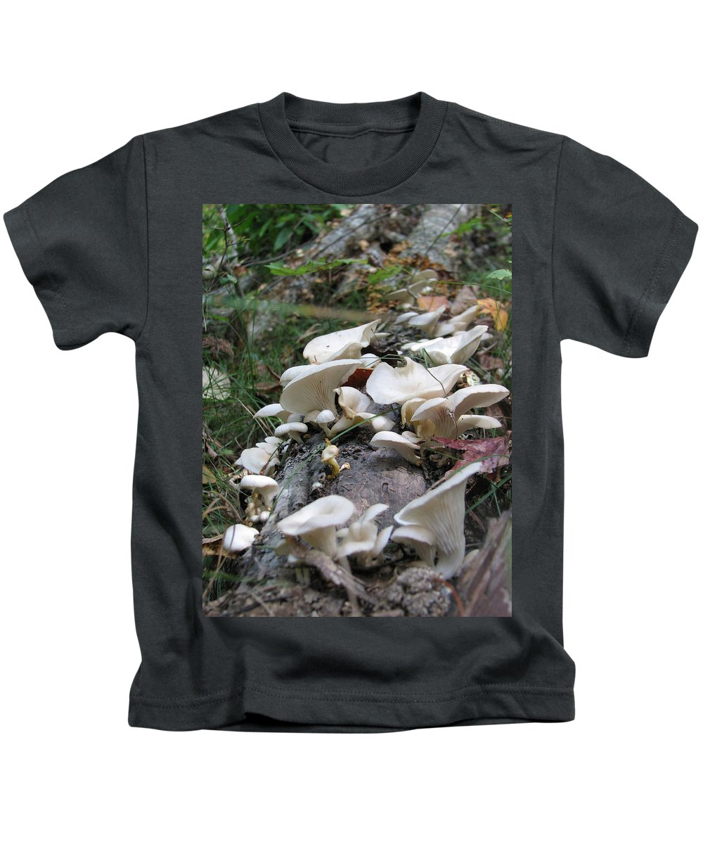 Mushroom Kids T-Shirt featuring the photograph Flowering Fungi by Stacey May