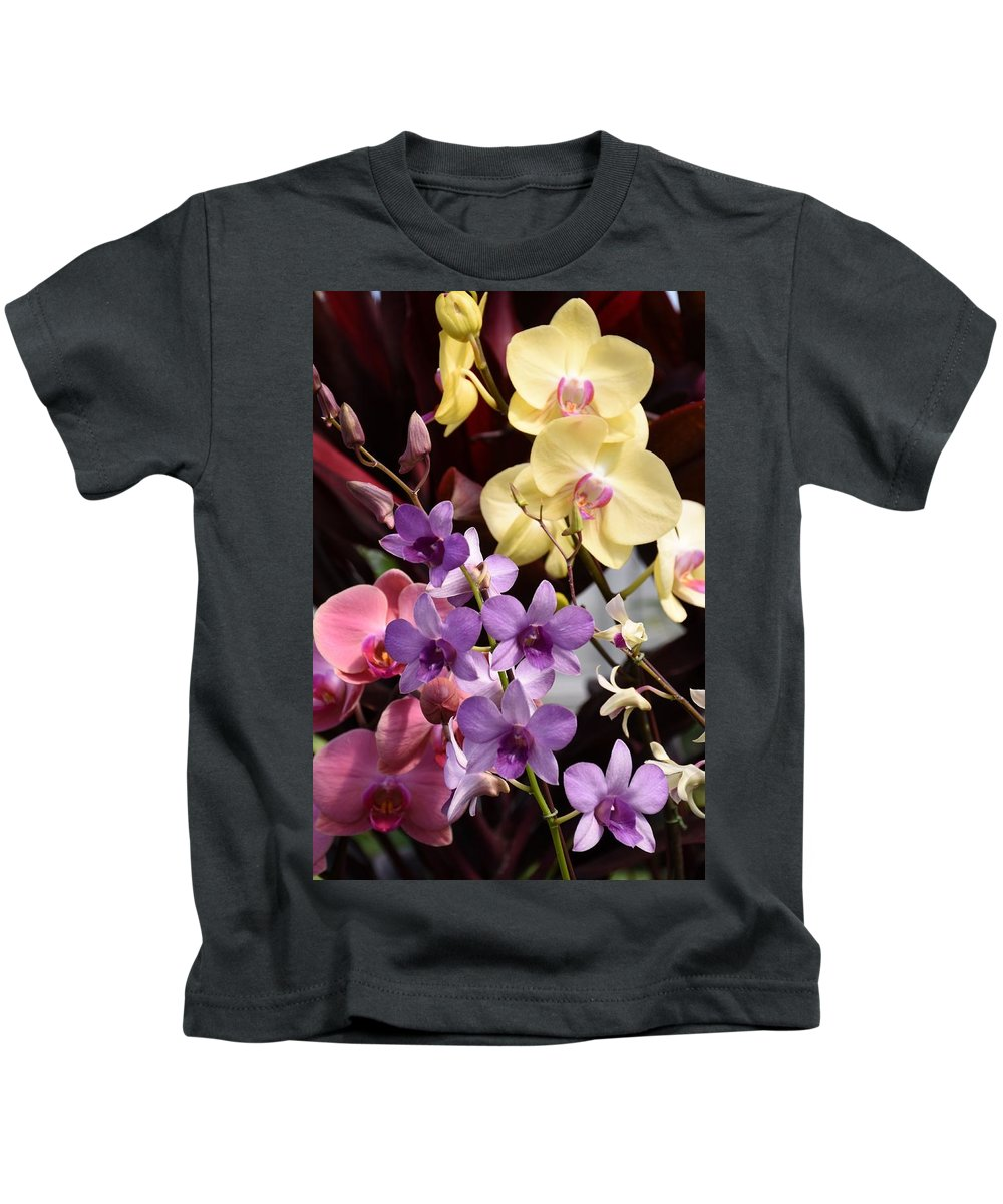Orchids Kids T-Shirt featuring the photograph Flowers 868 by Joyce StJames