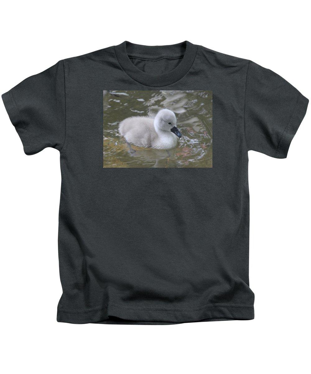 Signet Kids T-Shirt featuring the photograph Fluffy Signet by Kyle Hillman