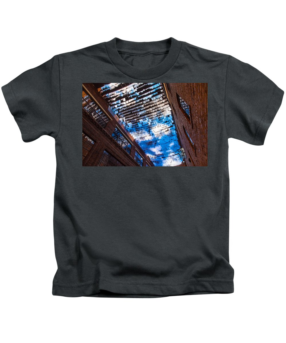 Artsy Kids T-Shirt featuring the photograph Flux Night Papers by Allegory Imaging