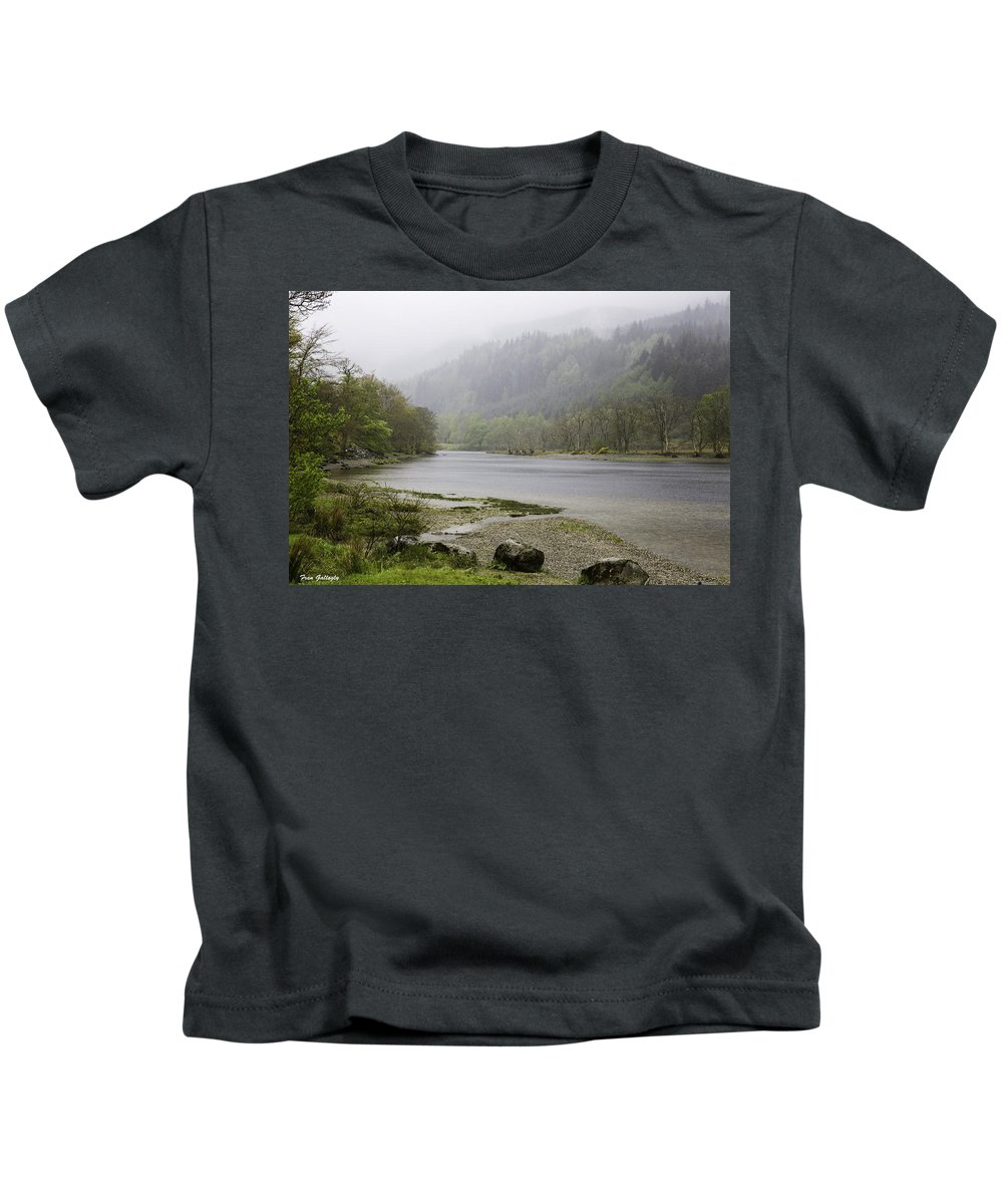 Fog Kids T-Shirt featuring the photograph Foggy Day At Loch Lubnaig by Fran Gallogly