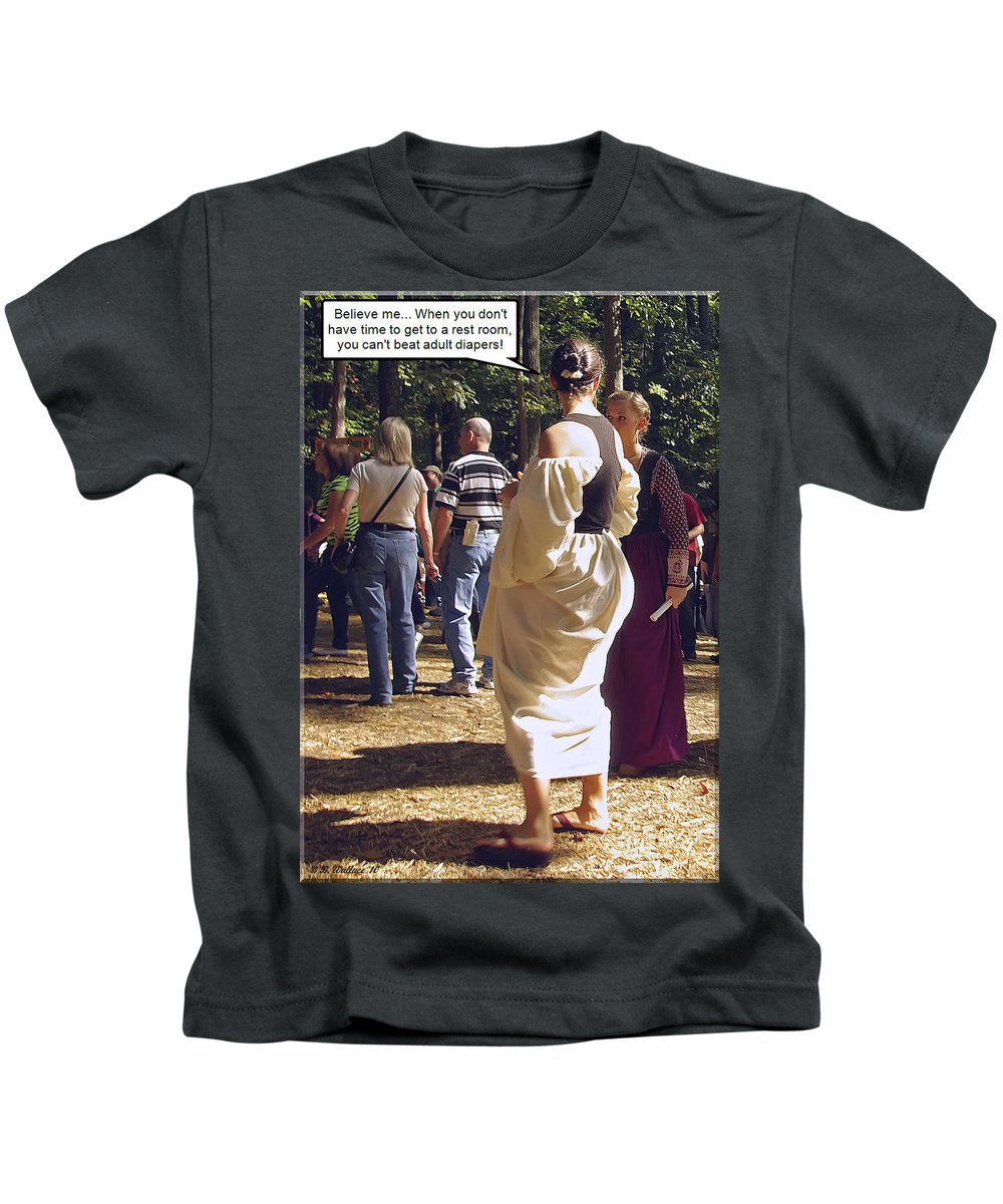 2d Kids T-Shirt featuring the photograph For Adults by Brian Wallace