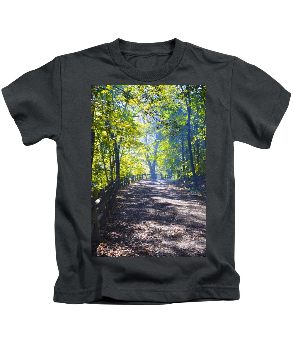 Wissahickon Kids T-Shirt featuring the photograph Forbidden Drive - Philadelphia by Bill Cannon
