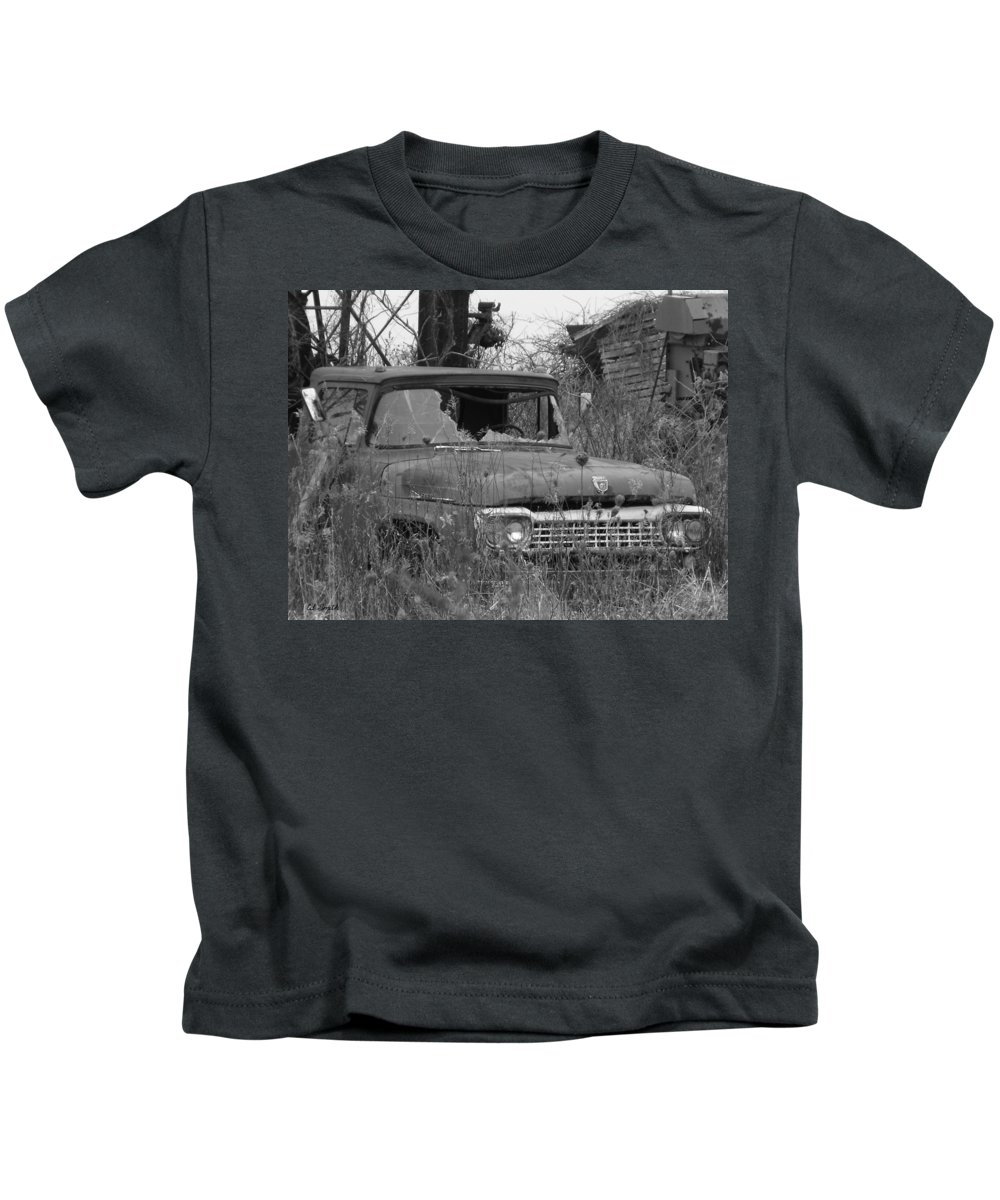 Ford Tough Kids T-Shirt featuring the photograph Ford Tough by Edward Smith