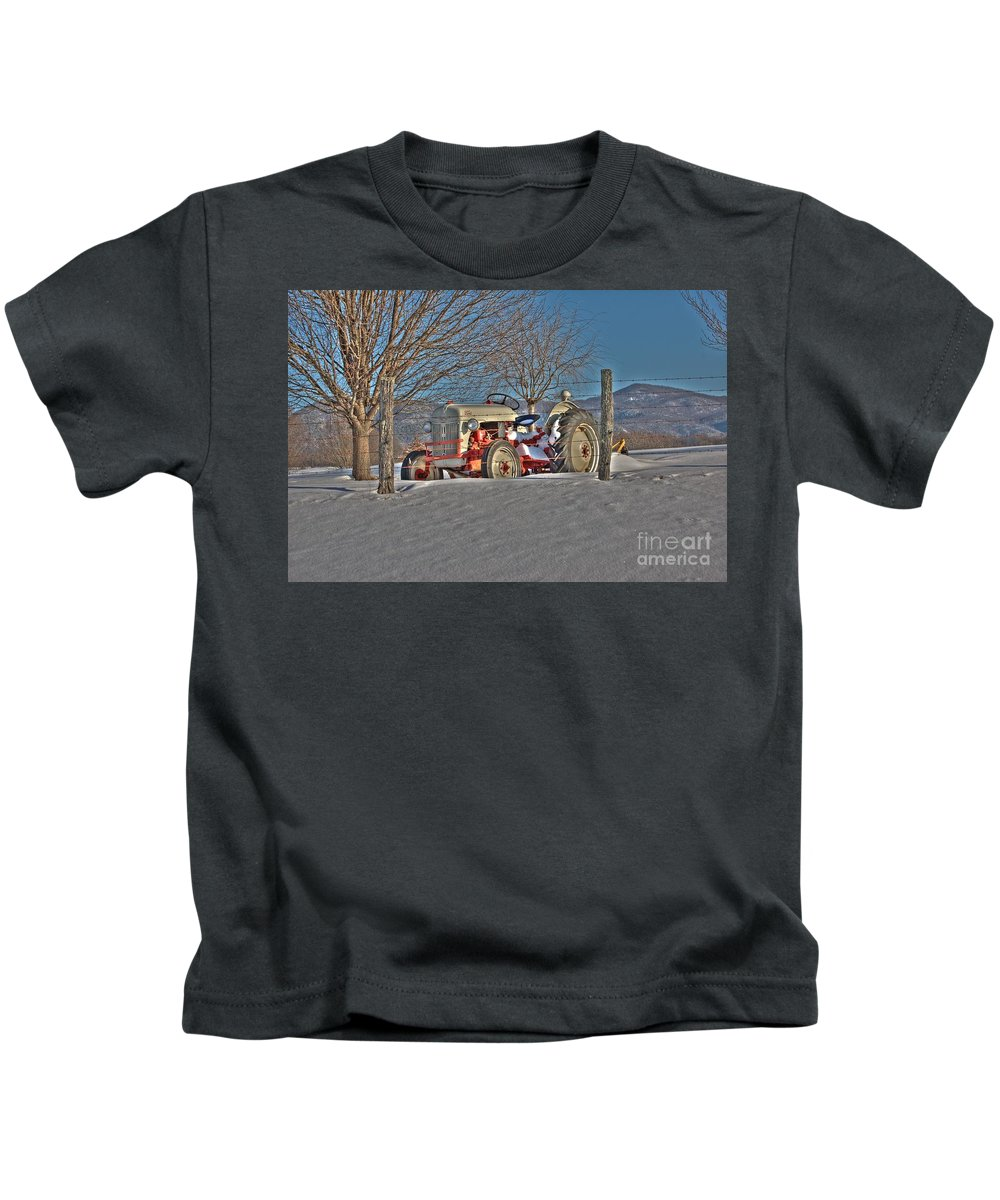 Ford Tractor Kids T-Shirt featuring the photograph Ford Tractor by Todd Hostetter
