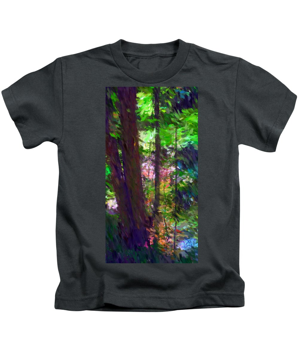 Digital Photography Kids T-Shirt featuring the digital art Forest For The Trees by David Lane