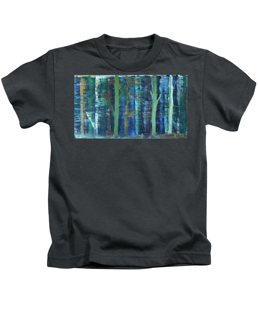 Drawing Kids T-Shirt featuring the painting Forest by Gideon Cohn