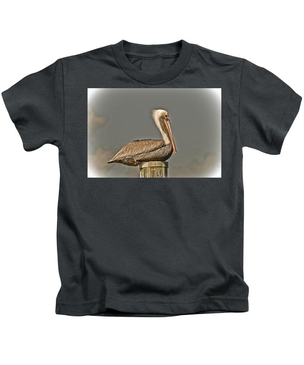 Bird Kids T-Shirt featuring the photograph Fort Pierce Pelican by Trish Tritz