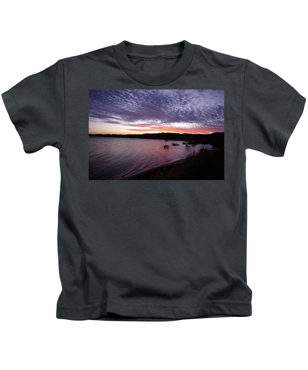 Landscape Kids T-Shirt featuring the photograph Four Elements Sunset Sequence 6 Coconuts Qld by Kerryn Madsen-Pietsch