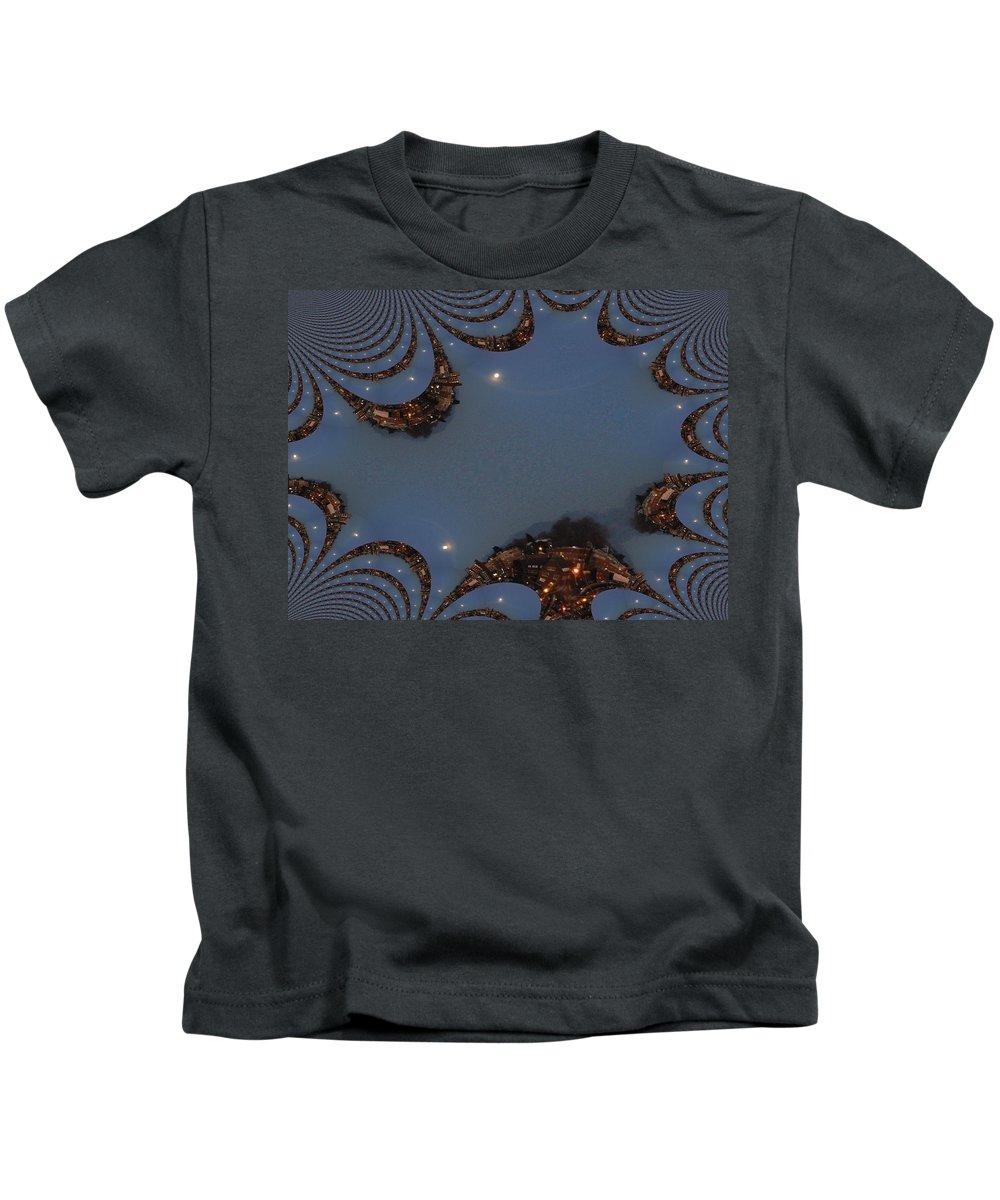 Moon Kids T-Shirt featuring the digital art Fractal Moon by Tim Allen