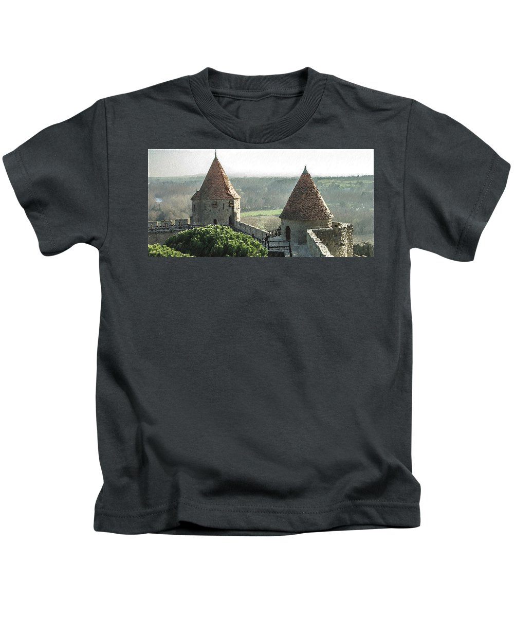 Tours Kids T-Shirt featuring the painting France - Id 16235-220244-1257 by S Lurk