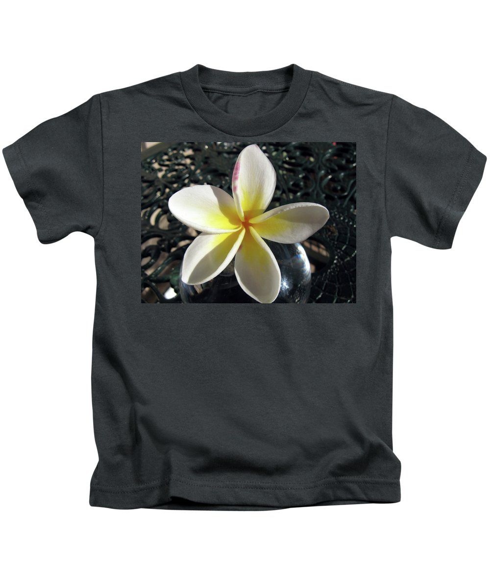 Australian Flowers Kids T-Shirt featuring the painting Frangipani by Suzanne Vreeland