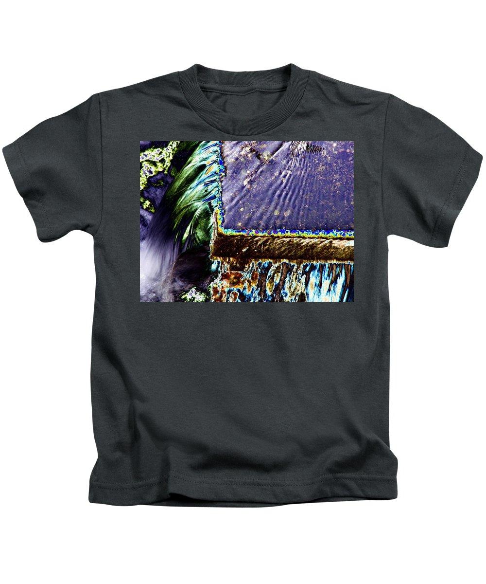 Seattle Kids T-Shirt featuring the digital art Freeway Park Waterfall by Tim Allen