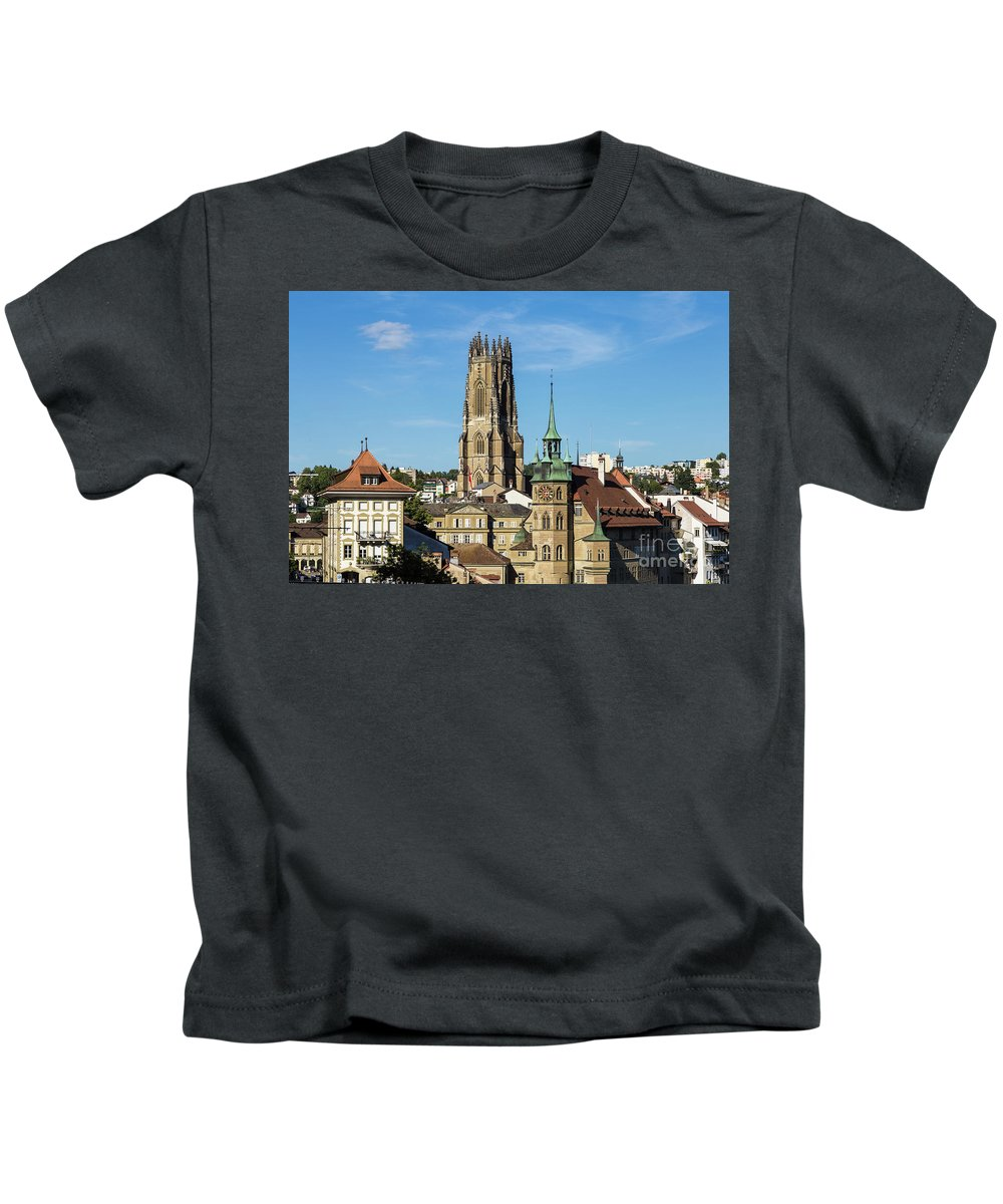 Catholic Kids T-Shirt featuring the photograph Fribourg, Switzerland by Didier Marti