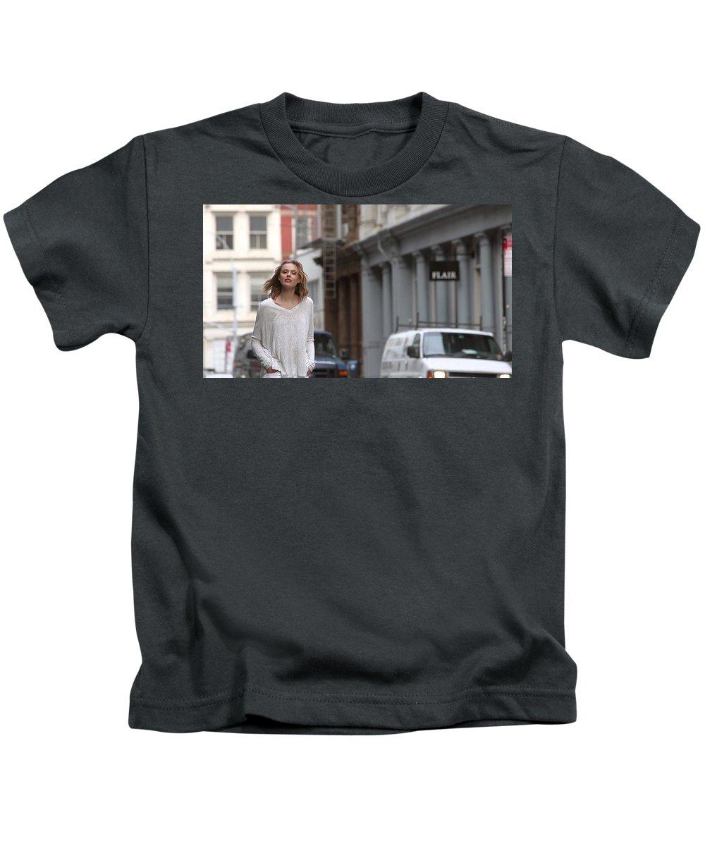 Frida Gustavsson Kids T-Shirt featuring the digital art Frida Gustavsson by Dorothy Binder