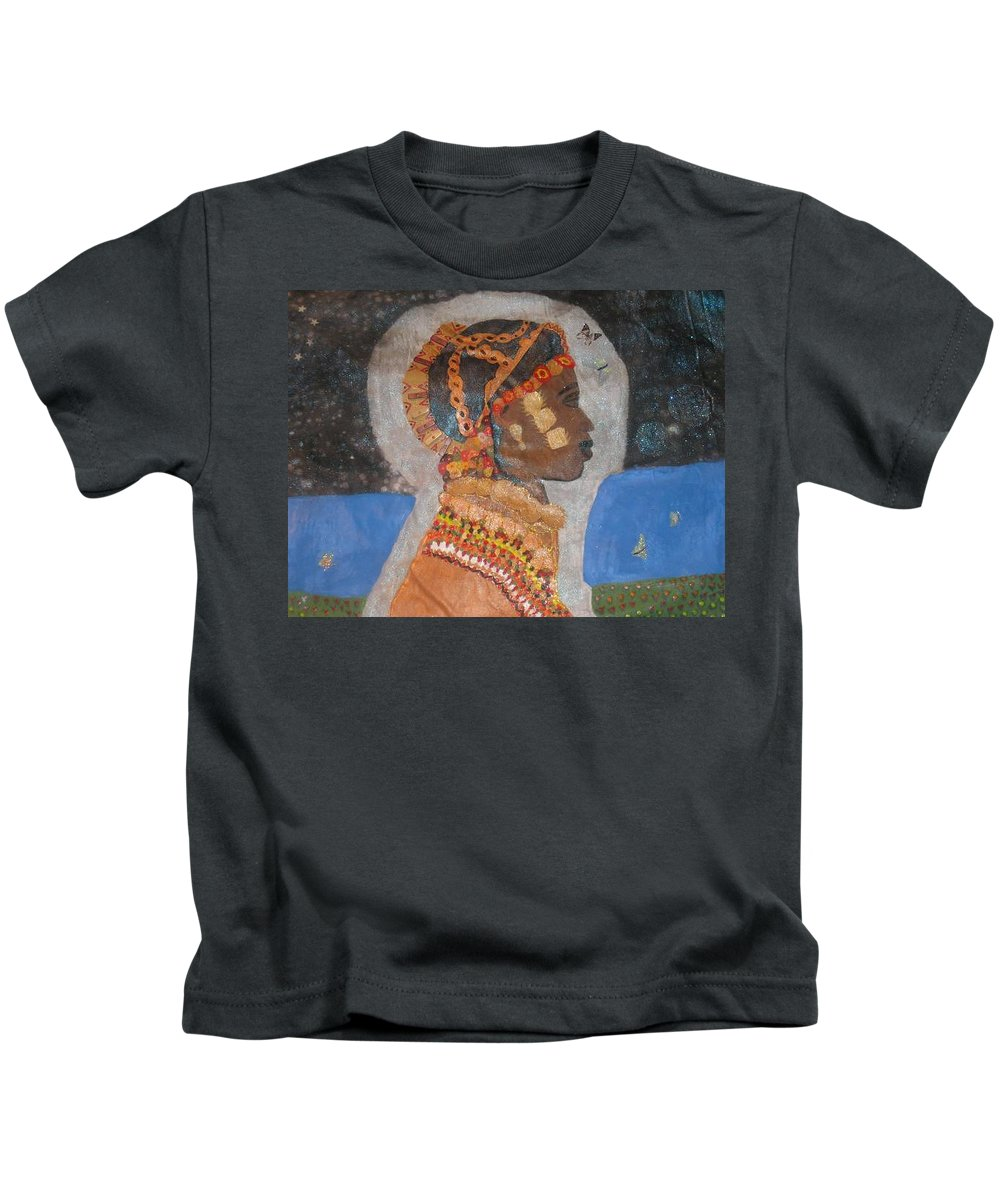 Cultural Kids T-Shirt featuring the painting From Princess To Queen by Yolanda Banks FWP
