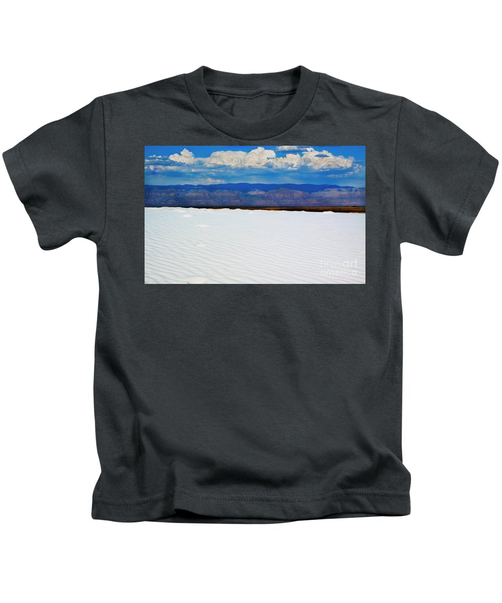 White Sands Kids T-Shirt featuring the photograph From The Basin by Jennifer Sensiba