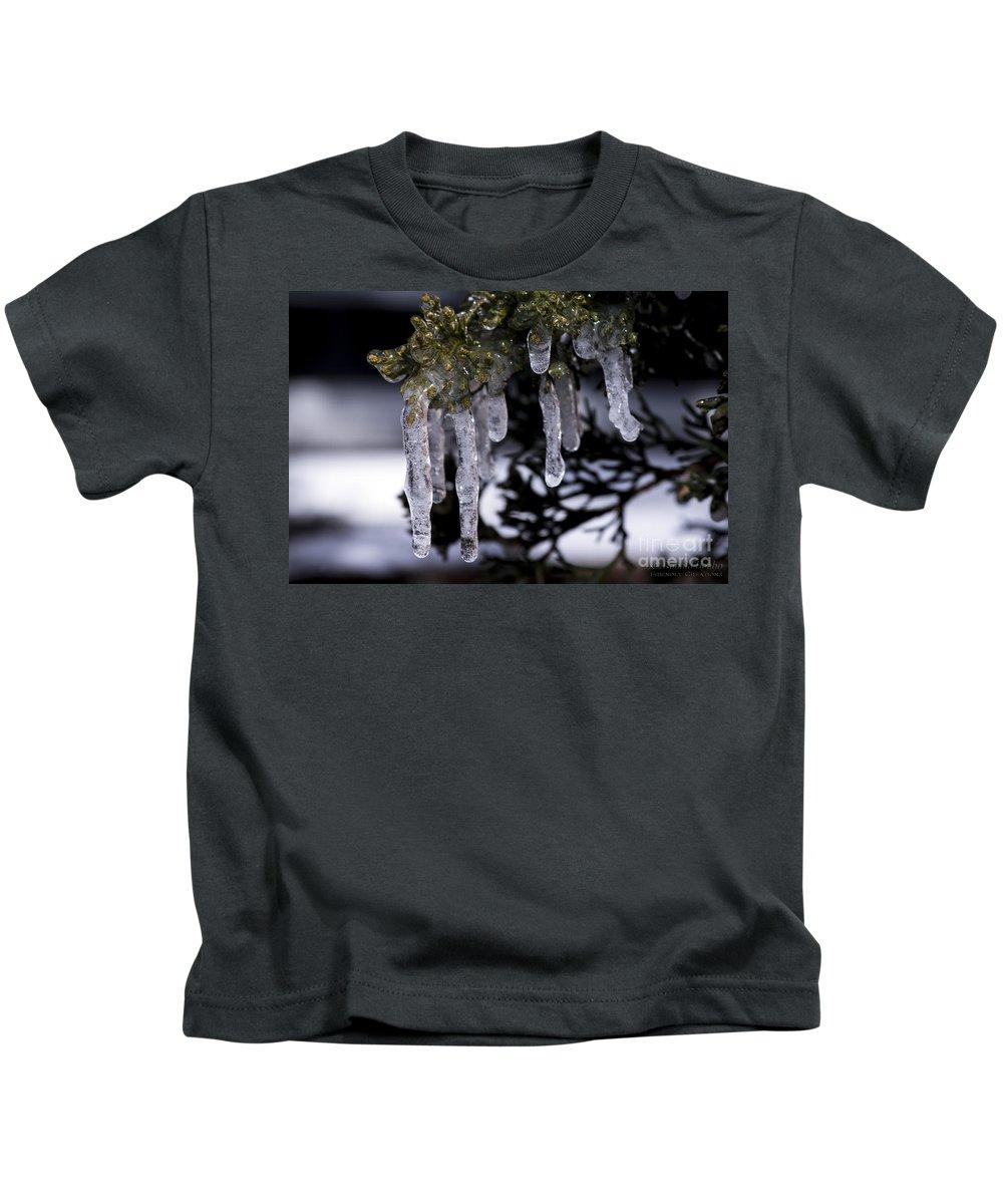 Nature Kids T-Shirt featuring the photograph Frozen 4 by Ronald Hoehn