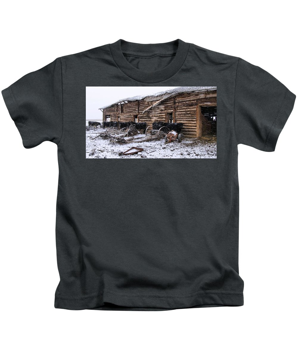 Cattle Kids T-Shirt featuring the photograph Frozen Beef by Susan Kinney